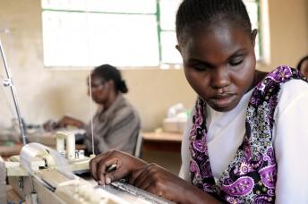Blindenschule in Machacos, Webeunterricht