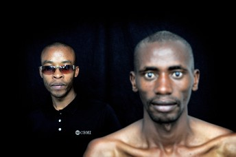 Blinder Marathonläufer Henry Wanyoike und sein Guide Joseph