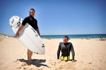 Kurt mit seinem Freund Mick, Newcastle, Australien