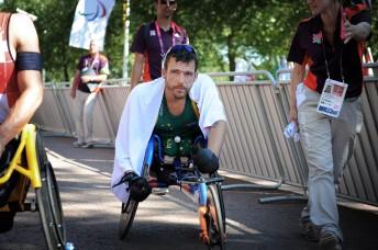 Kurt Fearnley nach dem Marathon